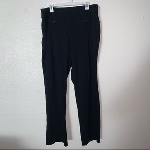 Style & Co 2X Black Work Pants with Front Buttons